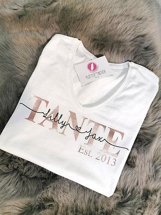 Tante T-Shirt weiß personalisiert