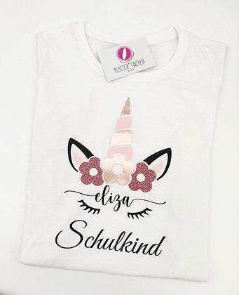 """T-Shirt Schulkind """"Einhorn"""" mit Namen personalisiert"""