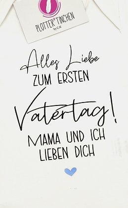 Vatertag/Muttertag Langarmbody in weiß und schwarz