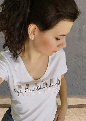 MAMA T-Shirt weiß personalisiert