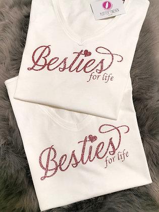 Besties (Freundinnen) T-Shirt in Weiß