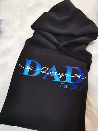 DAD Hoodie schwarz personalisiert