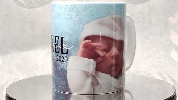 Patenonkel Keramiktasse mit Bild und Wunschname/n personalisiert