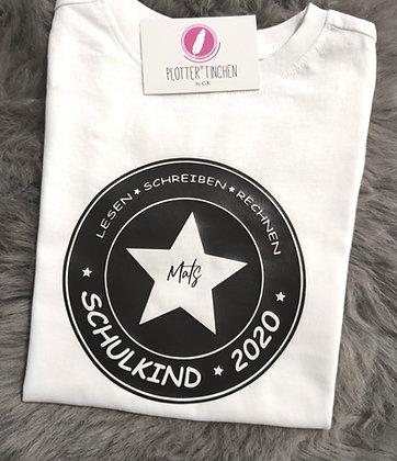 """Schulkind T- Shirt """"Lesen - Schreiben - Rechnen"""" personalisiert"""