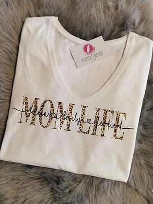 MOM LIFE T-Shirt weiß personalisiert