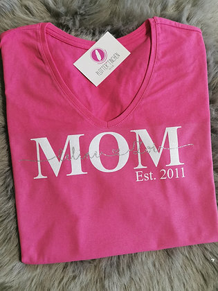 MOM Shirt in pink personalisiert