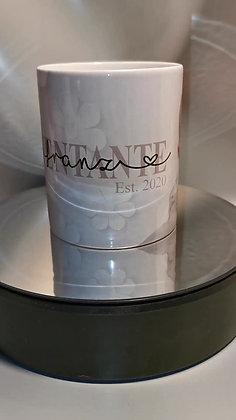 Patentante Keramiktasse mit Bild und Wunschnamen personalisiert