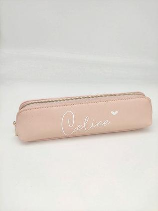 Mäppchen in rosa & schwarz personalisiert