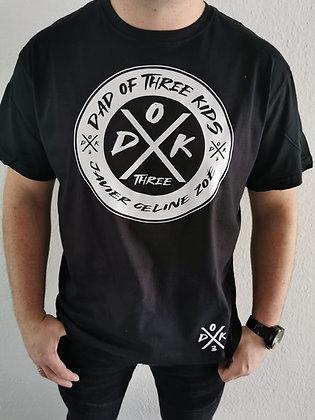 DAD OF KIDS T-Shirt in weiß oder schwarz in zwei Ausführungen