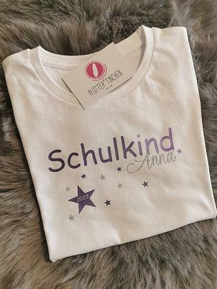 """Schulkind T- Shirt """"Sterne"""" personalisiert"""