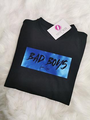 BAD BOYS for life Kinder T-Shirt in schwarz
