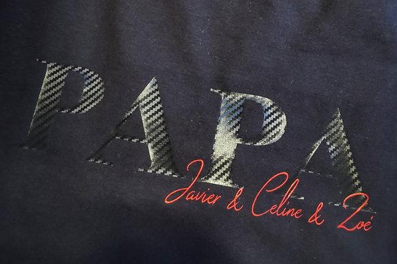 NEUE T-Shirt Marke! PAPA, DAD, OPA T-Shirt schwarz + Kindernamen personalisiert