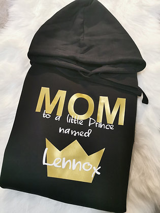 MOM little Prince Hoodie mit Wunschname