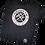 Thumbnail: PATCHWORK DAD T-Shirt in schwarz und weiß personalisiert