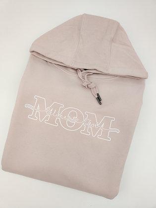 MOM Hoodie in Rosé personalisiert