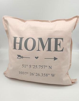 Kissen HOME & Koordinaten personalisiert