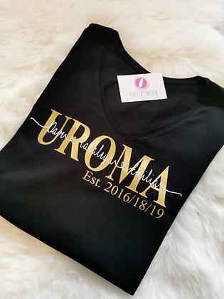 UROMA T-Shirt schwarz personalisiert