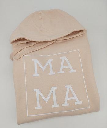MA MA Hoodie in weiß, rosé, pfirsich oder schwarz