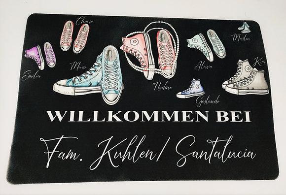 """Fußmatte """"Sneaker Familie"""" 40x60cm"""