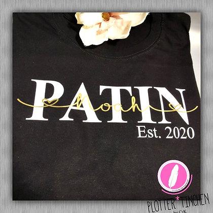 Patin T-Shirt schwarz personalisiert