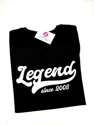 Legend since (Geburtsjahr)  Herren T-Shirt schwarz oder weiß personalisiert