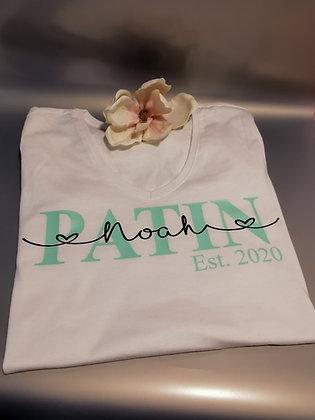 Patin T-Shirt weiß personalisiert