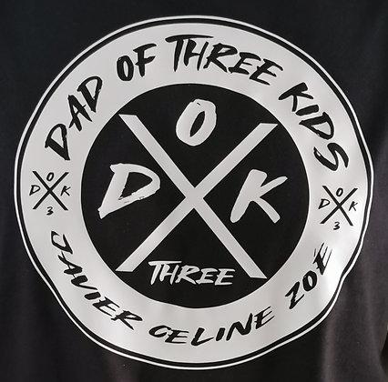 NEUE T-Shirt Marke! DAD OF KIDS T-Shirt in schwarz in zwei Ausführungen