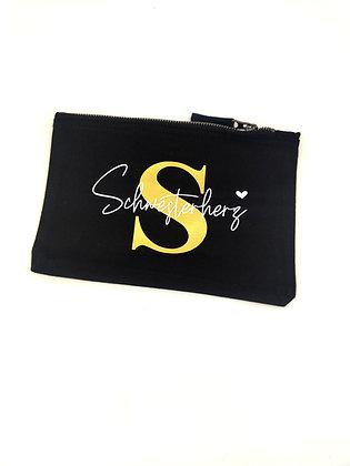 Schwesterherz Kosmetik/Accessoire Tasche in schwarz personalisiert