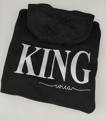 KING Hoodie personalisiert mit Name und Datum