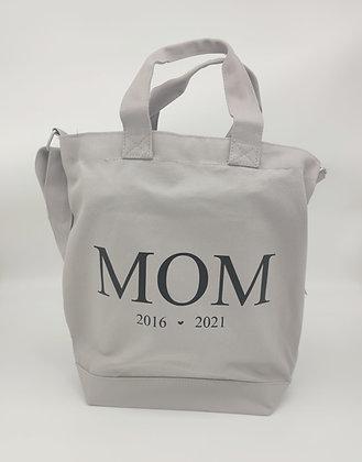 MOM Shopper in grau, schwarz und natur - mit Geburtsjahr personalisiert