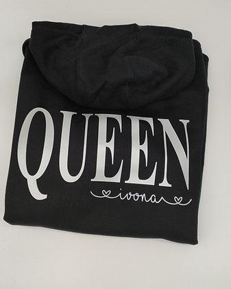 Queen Hoodie personalisiert mit Name und Datum