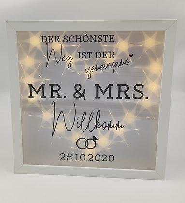 Mr. & Mrs. Rahmen zur Hochzeit, Jahrestag etc.