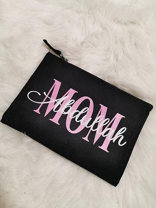 MOM/Name Kosmetik/Accessoire Tasche in schwarz personalisiert
