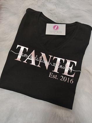 TANTE T-Shirt schwarz personalisiert