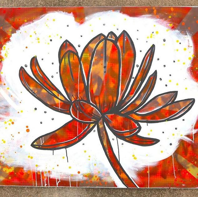 Urban Lotus, Via 2014, 4 by 5 feet,  #ar