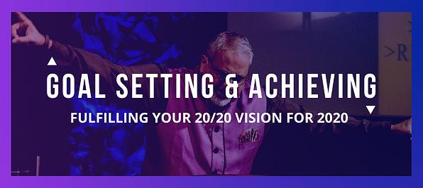 Goal Setting & Achieving Website Banner.
