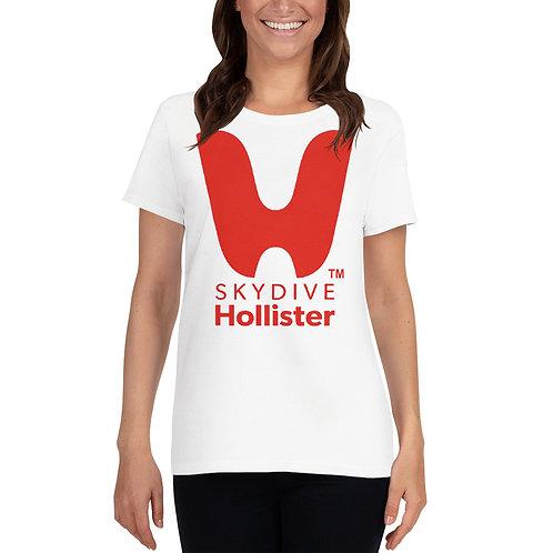 Women's Crew-Neck Short Sleeve Loose Neck Skydive Hollister Tee