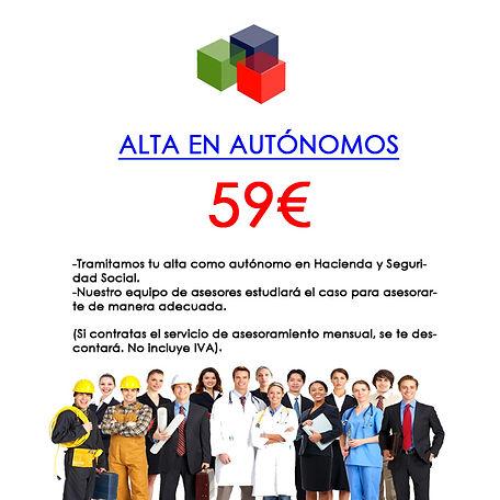 Alta en Autónomos 59 €
