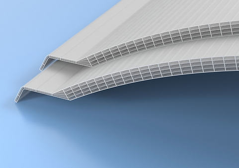 Radius 1000 extruded multiwall polycarbonate