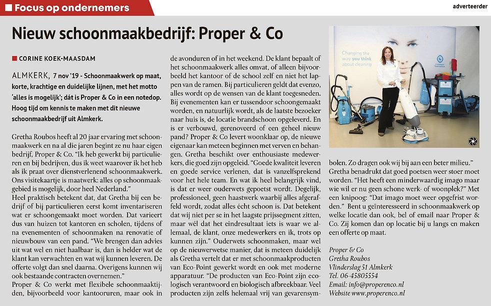 Proper & Co in het nieuws