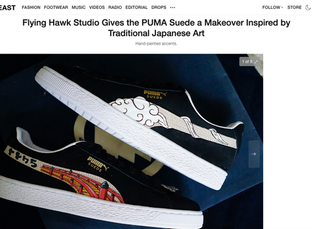 Hypebeast - Flying Hawk Studio Gives the PUMA Suede a Makeover Inspired by Traditional Japanese Art