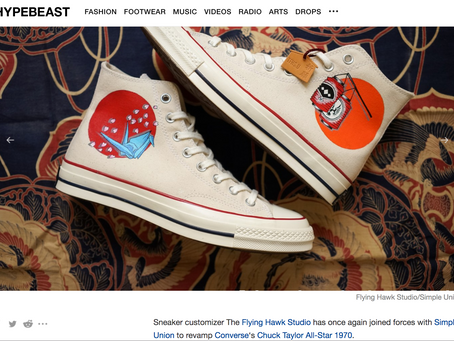 Hypebeast - TFHS & Simple Union Update the Converse 1970 With Traditional Japanese Elements