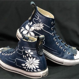 Thank You _ Converse Leather OX Navy - W