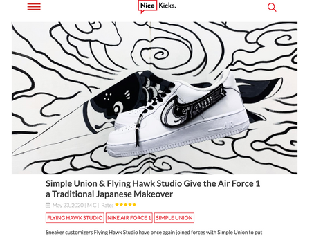 NICE KICKS - Flying Hawk Studio Give the Air Force 1 a Traditional Japanese Makeover