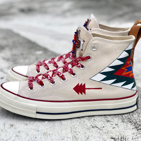 HD converse 1970 - Indian pattern with Leather Beads Patch