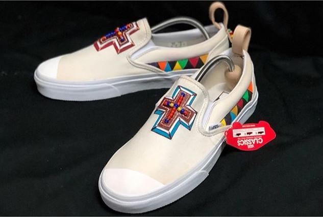 Special custom made - Vans Slip On Leath