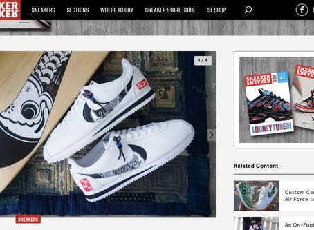 Sneaaker Freaker - Carp-themed Custom Nike Cortez from The Flying Hawk Studio