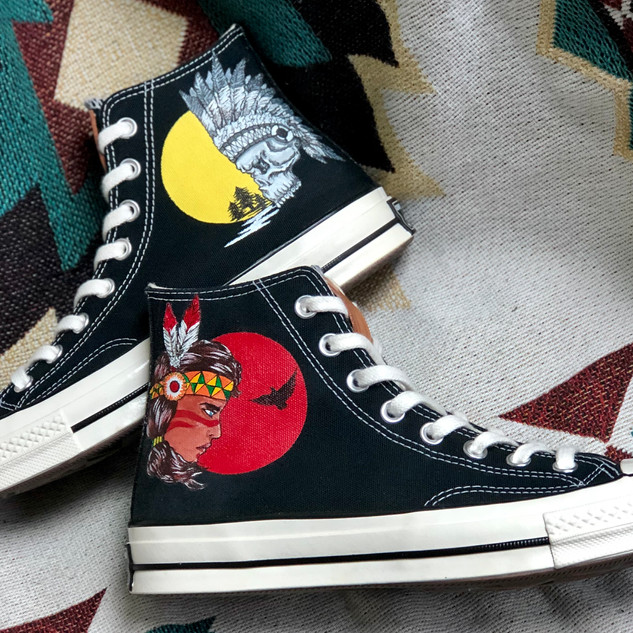Order Done HD Converse 1970s Indian Gal
