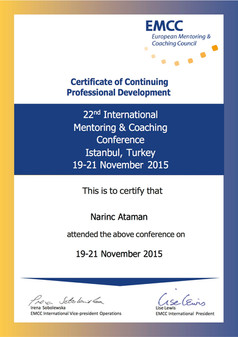 EMCC 2015 Conference Certificate