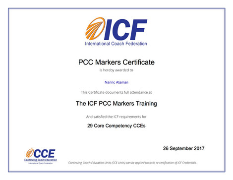 PCC Markers Certificate